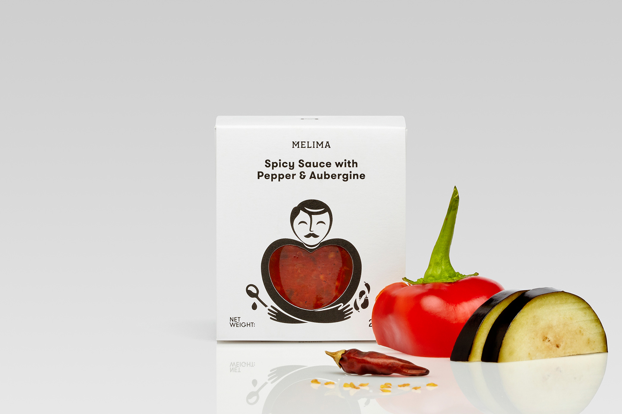 Καυτερή Σάλτσα Κόκκινης Πιπεριάς & Μελιτζάνας